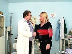 Big tits blond mature curly pussy exam