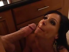 Kendra Lust receives her face doused with hot dick juice