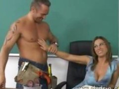 Construction Worker Finds Hot Teacher Devon Lee At Her Desk And Makes Her Suck His Shlong In advance of This chab Fucks Her Cunt Right There In The Classroom Aged Boobs Cumshot
