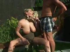 Big Tit Anal In The Garden
