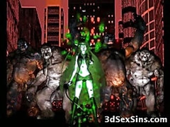Freak Monsters Bang 3D Girls!