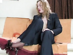 Natalie pantyhose tease clip scene