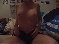 Young Girlfriend cumming on webcam