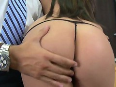 Superb Amy ried receives hard pounded in her shaved cunt by hunk Keiran Lee
