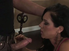 Brunette Camryn Kiss enjoys playing with a stiff jock in one wild hardcore fuck scene