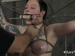 bdsm master uses his hawt brunette