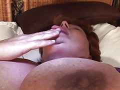 huge granny masturbating with a fake penis