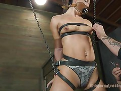 hanged and fastened slut