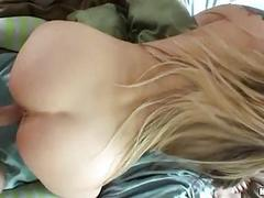 Bootylicious blonde in socks gets nailed doggy style