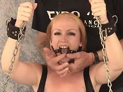 Take a look at this blond bitch Tori as this babe is shackled to the...