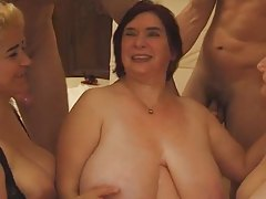 Hot obese mature orgy
