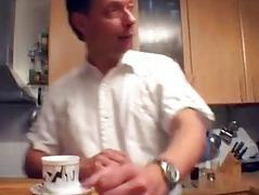 Hawt German MILF receives taken in the kitchen
