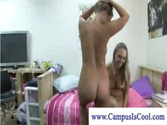 Wicked colle girls undressing and giving a kiss