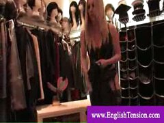 Femdom-goddess shows her tailored made boots collection