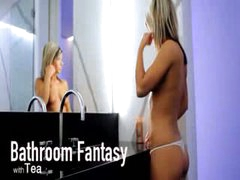 Bathroom dream of unbelievable model